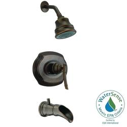Pegasus Bamboo Single-Handle 3-Spray Tub & Shower Faucet - Heritage Bronze