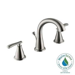 "Zuri 8""  Widespread 2-Handle High-Arc Bathroom Faucet - Brushed Nickel"