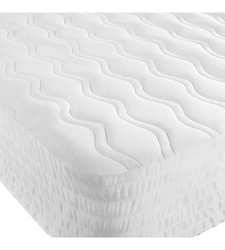 AllerEase Naturals Cotton Top Mattress Pad - White - California King