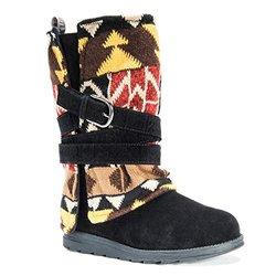 Muk Luks Women's Nikki Winter Boot - Black Patterned - Size: 10 M