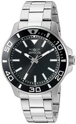Invicta Pro Diver Watch: 21542/silver Band-black Dial