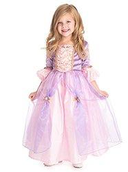 Little Adventures Girl's Deluxe Rapunzel Costume - Pink/Purple - Size: S