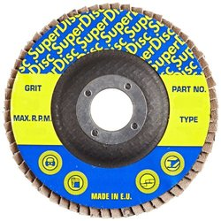 "Sundisc 27 High Density Abrasive Super Flap Disc - 7"" Diameter - 40 Grit"