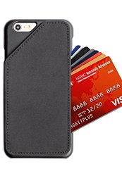 [iPhone 6/6S] Slim Wallet Case - Card Holder for Up to 8 Cards and Cash - Quickdraw by HUSKK - [QDPH6BNEE] - Ballistic Nylon Black