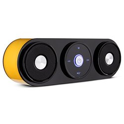 Bluetooth Speakers, ZENBRE Z3 10W Portable Wireless Speakers, Computer Speaker with Enhanced Bass Resonator [Upgraded Sound Prompts] (Yellow)