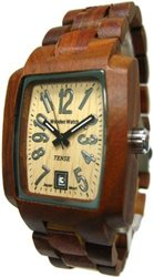 Tense Men's Solid Sandalwood Day Time Hypoallergenic Watch J8102S Light Face