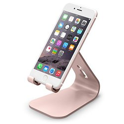 elago  M2 Stand [Rose Gold] - [Premium Aluminum][Angled for Video Calls][Cable Management] - for all iPhones, Galaxy, and other Smartphones