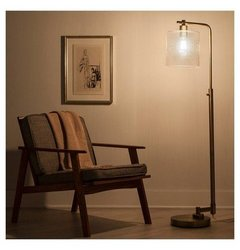 Floor Lamp Thrshd Antique Brass