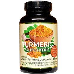 Turmeric Curcumin is a Natural Joint Pain Supplement. Made from Certified Organic Turmeric Curcumin Powder, 180 Veg Capsules per bottle.