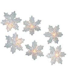 Kurt Adler Ul 10-light Snowflake Party Light Set - White (UL0894)