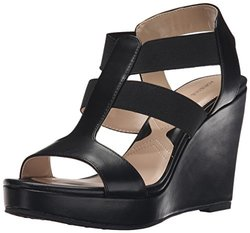 Adrienne Vittadini Women's Wedges: Cleve-smooth-stretch-black/10
