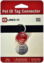 Links-It Pet ID Tag Connector - Red