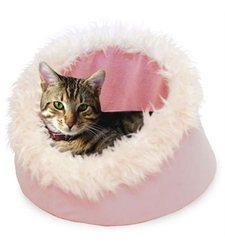 PAW Feline Cat Comfort Cavern Pet Bed - Pink