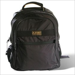 A Saks Expandable Lightweight Nylon 15 6-inch Laptop Backpack