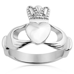 West Coast Stainless Steel Traditional Celtic Claddagh Ring - Size: 9