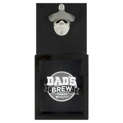 Dads Brew Father's Day Bottle Opener Hanging Sign - Black