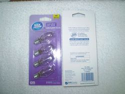 Total Home 4W Clear Light Night Bulb - Pack of 4 (4C7/S/CD4-CVS)