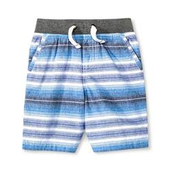 Cherokee Toddler Boys' Stripe Chino Cotton Shorts - Blue / White - Size: 7