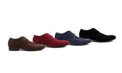 Royal Men's Moc Toe Lace-up Dress Shoes: Black/9