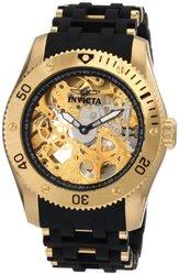 Invicta Men's 1261 Sea Spider Mechanical Skeleton Dial Black Polyurethane Watch