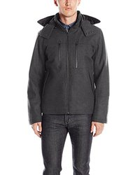 Waterproof Wool Hooded Hipster    Ta-0062    Charcoal    L