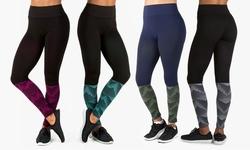 Form + Focus Women's Geo Printed Fade Seamless Leggings - Blk/mint - L/XL