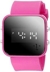 "1Face Unisex B0714 ""Breast Cancer"" Digital Display Pink Watch"