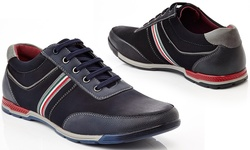 Men's Lace-up Fashion Sneakers: Navy/9.5