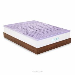2-inch 5-zone Lavender Memory Foam Mattress Topper: 38 x75 x2  Twin
