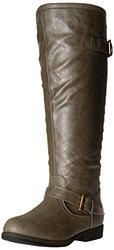 Brinley Co Women's Durango WC Riding Boot, Taupe Wide, 7.5 M US