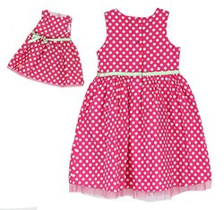 Our Generation Me & You Matching Outfits - Pink/White Polka Dots - Size 6