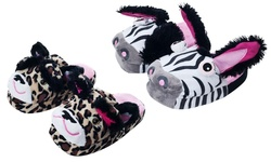 Silly Slippeez Lucky Leopard Glow in the Dark Slipper - Large