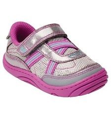 Stride Rite Infant Girl's Surprize Aida Sneakers - Grey/Purple - Size: 5