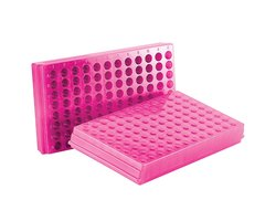 MBP 96 Well Fluorescent Pink Fli Polypropyleneer Microtube Racks 10 Case