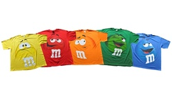 M&m Jumbo Fade Adult T-shirt: Orange/medium