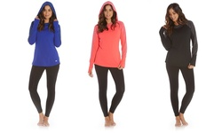Marika Tek Fleece Lined Cowl Hoodies: Cobalt Blue/medium