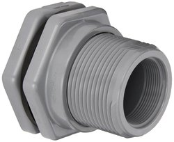 "Hayward Class 150 FPM Gasket 3"" Threaded CPVC Bulkhead Fitting"