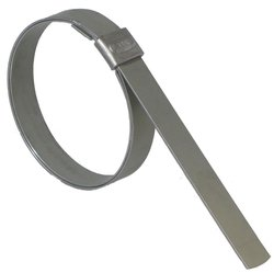 "Band-It 1/2"" W x 0.030"" T 4"" Dia. Carbon Steel Smooth I.D. Clamp - 100/Box"