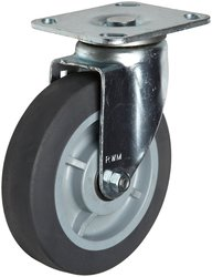 RWM Casters 480 lbs Capacity Ball Bearing Swivel Pneumatic Plate Caster