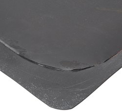 "Rhino Mats 3' Wx4' Lx7/8"" Thickness Smooth Top Anti-Fatigue Mat - Black"