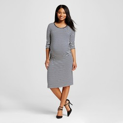 Women's Maternity T-Shirt Dresses - Dark Shadow Blue - Size: Small