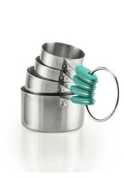 Flirty Kitchens Set: Stainless Steel Measuring Cups (4-Piece) 1178147