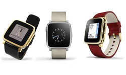 Pebble Time Steel Gold Deluxe Black Edition