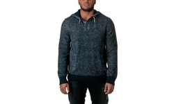 Republic Men's 100% Cotton Pull Over Hooded Sweater - Blue Mix - Size: XL