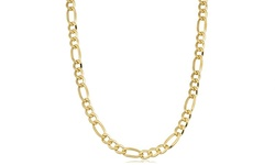 14k Yellow Gold Filled Figaro Link Chain Necklace: 20""