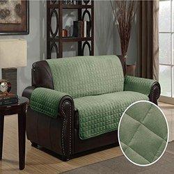 Microsuede Furniture Protector Loveseat W/ 5 In Tuck: Sage