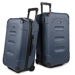 U.S. Traveler Long Haul Cargo Trunk Luggage Set (2-Piece) -  Steel Blue
