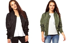 Kourtney Bomber Jacket: Olive/Small