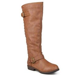 Women's Extra Wide Calf Knee-high Riding Boots - Chestnut - Size: 10