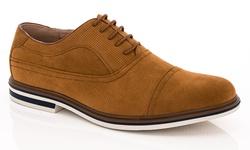 Franco Vanucci Dexter-1 Men's Casual Suede Oxford Shoes - Tan - Size:13